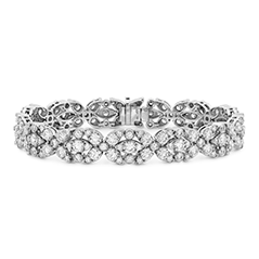 Aerial Double Row Diamond Bracelet