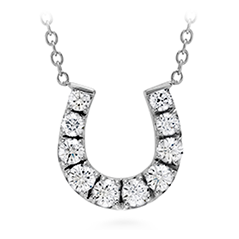HOF Diamond Horseshoe Necklace
