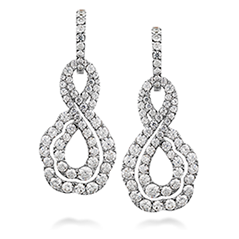 Lorelei Diamond Infinity Earrings - Small