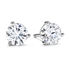 Three-Prong Stud Earrings